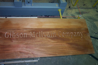 Solid Wood Carved Sign
